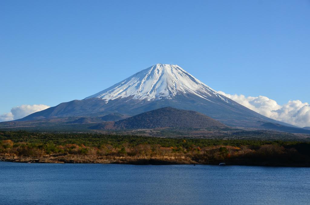 4c7e63b1c2a9b14d377b4cf638b30de9 - 【精進湖の絶景富士山撮影】精進湖にて快晴の青空の下で秋晴れの子抱き富士が見事でした