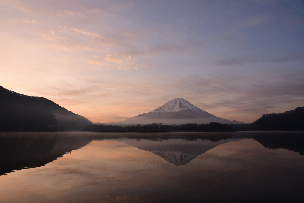 【精進湖】2015年03月29日 05:42撮影